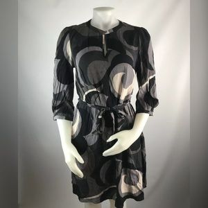 Boden Elbow Sleeve Swirl Dress